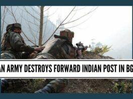 Pakistan army destroys forward Indian post in BG sector