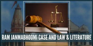 Ram Janmabhoomi case - Law and Literature