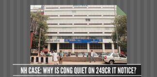Why is Congress keeping quiet on the IT notice of 249 crores?