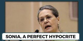 Sonia Gandhi, a perfect hypocrite