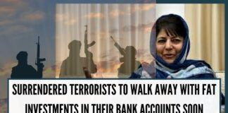 Surrendered terrorists to walk away with fat investments in their bank accounts soon