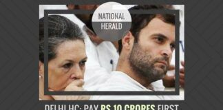 In the National Herald case, the Delhi HC directs Young Indian to deposit Rs.10 crores first in their petition against the Income Tax order