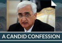 A Candid Confession of Congress leader Salman Khurshid
