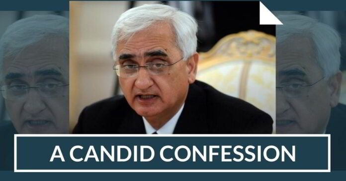 A Candid Confession of Congress leader Salman Khurshid