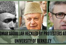Omar Abdullah heckled by protesters at University of Berkeley