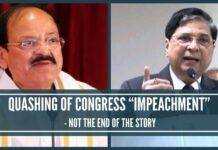 """QUASHING OF THE CONGRESS """"IMPEACHMENT"""" MAT NOT BE THE END OF THE STORY"""