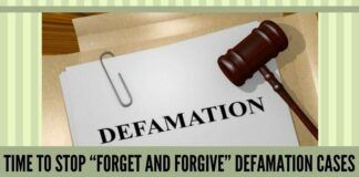 """TIME TO STOP """"FORGET AND FORGIVE"""" DEFAMATION CASES"""