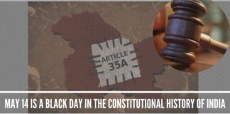 Article 35-A: May 14 Is A Black Day In The Constitutional History Of India