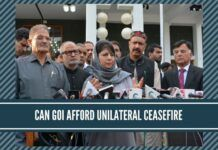 Can GOI afoord 'Unilateral Ceasefire' in Kashmir?