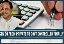 GSTN Co from Private to Govt controlled finally …