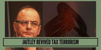 Jaitley revived tax terrorism