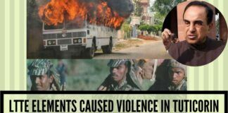 LTTE elements caused violence in Tuticorin: Swamy