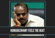 kumaraswamy begins to feel the heat