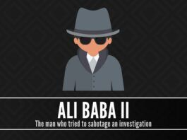 Who is Ali Baba II, the man who tried to sabotage an investigation to save a corrupt politician?