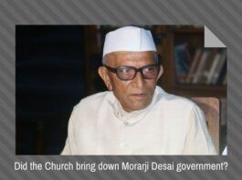 Various factors, including strident opposition from the Vatican doomed the government of Morarji Desai