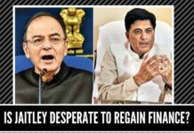Is Jaitley desperate to regain Finance?