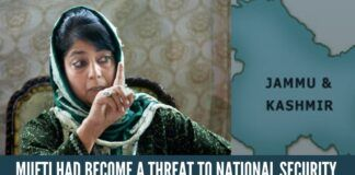 Separatist Mehbooba Mufti Had Become A Threat To National Security