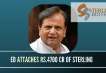 Ahmed Patel will be feeling the heat after a company he is friendly with, Sterling Biotech is in the cross hairs of the ED