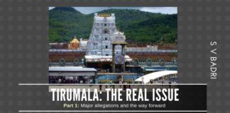 Here is the truth on what has happened in Tirumala Tirupati Devasthanam as related by the grandson of the man who created the Tirupati laddoos