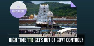 Are Chrislamists getting bolder by the day in TTD? Is TDP implementing Law and Order unevenly?