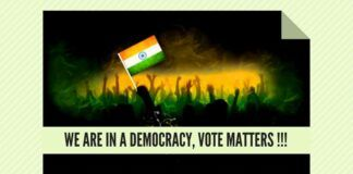We are in a Democracy, Vote Matters !!!