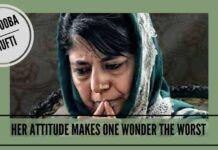 her attitude makes one wonder the worst