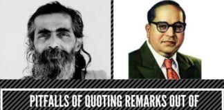 Pitfalls of quoting remarks out of context, whether that of Golwalkar or Ambedkar