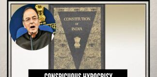 Arun Jaitley's remarks on the First Amendment to the Constitution smacks of conspicuous hypocrisy