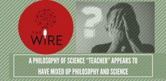 "A philosophy of science ""teacher"" appears to have mixed up philosophy and science(2)"