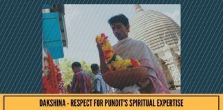 Dakshina - respect for pundit's spiritual expertise