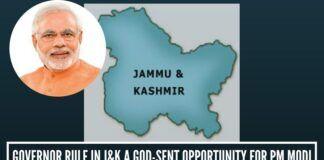 Governor Rule in J&K a god-sent opportunity for PM Narendra Modi