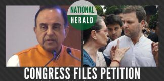 Congress files a petition in the court to restrain Swamy from tweeting about the National Herald case