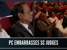 Is Chidambaram embarrassing himself by getting photographed with judges of the Supreme Court?