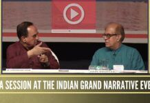Question & Answer Session at Indian Grand Narrative Event in Mumbai, Keynote Speakers Dr. Subramanian Swamy and Rajiv Malhotra organized by VHS Maharashtra on 8th July 2018.