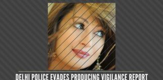 Why is the Delhi Police avoiding to submit its own vigilance report on the preliminary investigation of the murder of Sunanda?
