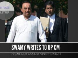 Swamy writes to UP CM