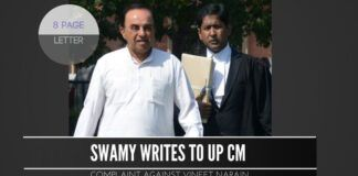 Swamy writes to UP CM