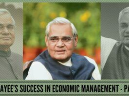 Vajpayee's success in economic management