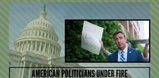American politicians under fire