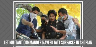 LeT militant commander Naveed Jatt surfaces in Shopian to give gun salute to a slain terrorist