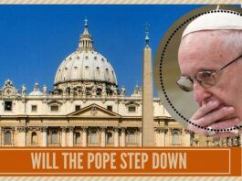 Will the pope step down