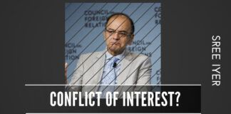 Did Jaitley representing ADAG in 2008-09 and then arguing against 2G Scam in the parliament (ADAG was one of the accused) constitute a conflict of interest?