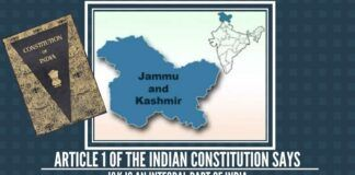 Jammu & Kashmir is the solitary state in the country which has a separate constitution and flag