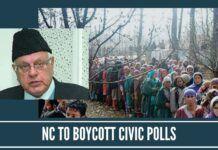 NC to boycott civic polls