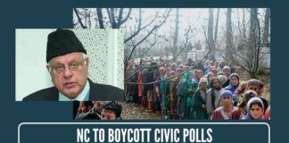 NC to boycott civic polls