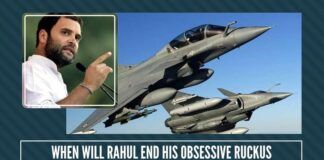 Has the time then, come for our Country's much-pampered Rahul Baba to declare a cease-fire on the Rafale issue?