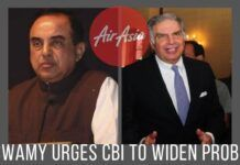 Swamy writes to the CBI Director, urges him to widen the probe against Air Asia and Tata Group