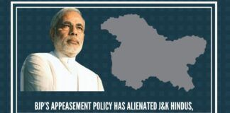 BJP 's appeasement policy has alienated J&K Hindus, Buddhists