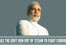 Govt run out of Steam to fight Corruption?