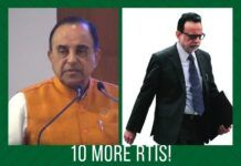 Upping the ante, Swamy writes to the Finance Ministry seeking more information about Adhia's actions in various ongoing cases